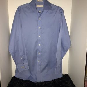 Michael Kors Blue Long Sleeve Dress Shirt Size Med